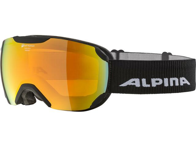 Alpina Pheos S QHM Gafas, black matt/red